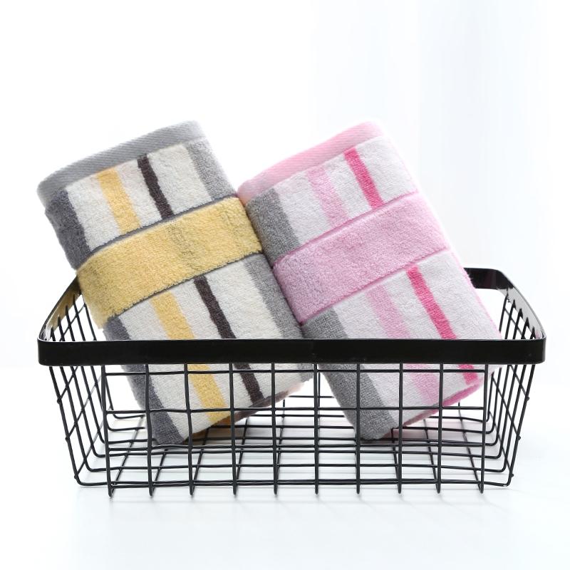 洁丽雅毛巾纯棉柔软条纹成人加长加厚运动巾家用洗澡巾